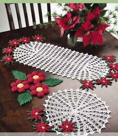 Como hacer camino de mesa en crochet para navidad for Como hacer caminos de mesa modernos