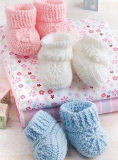 como hacer escarpines en crochet para varon y para hembra