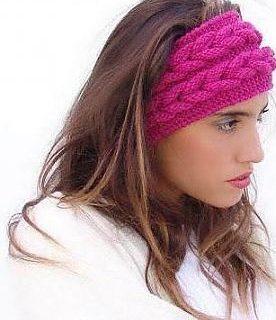 como hacer diademas de lana con dos agujas con diseños de moda