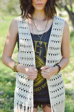 como hacer un chaleco en crochet