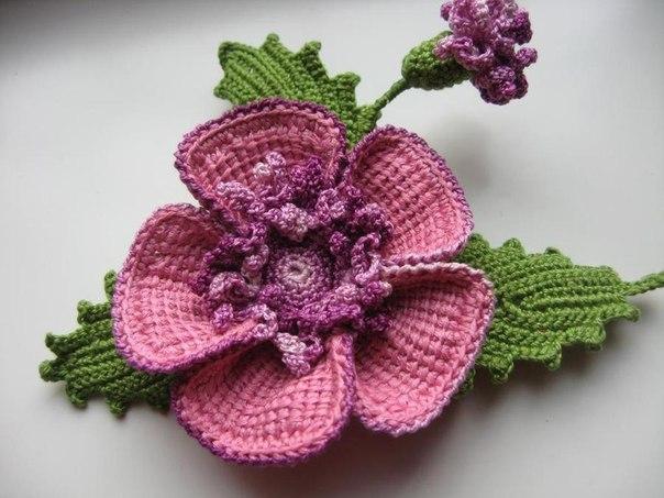 Como Hacer Flores De Lana Con Dos Agujas Para Adornar - Como-hacer-una-flor-de-lana