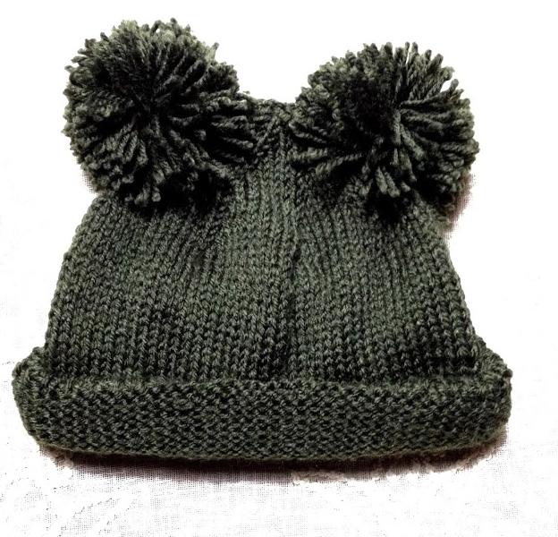 Como hacer gorros de lana con dos agujas y pompones - Lana gruesa para tejer ...
