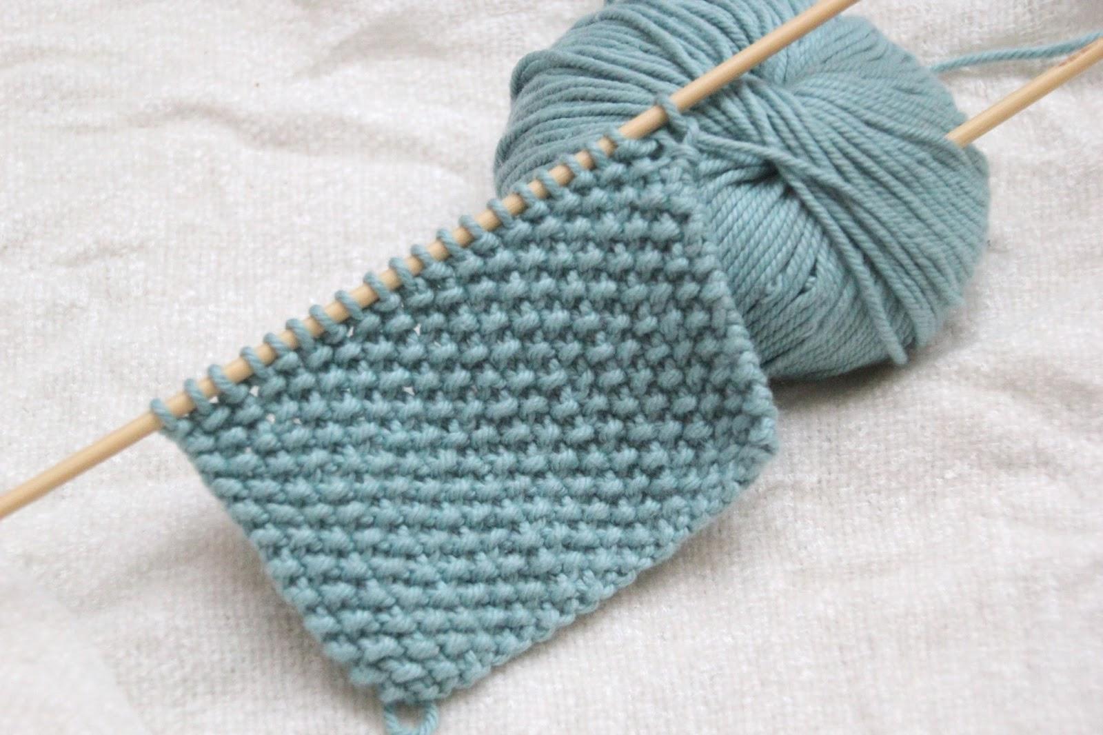 Como hacer punto de arroz con dos agujas sin complicaciones - Puntos para tejer con dos agujas ...