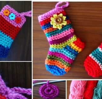 como hacer calcetines de lana a crochet