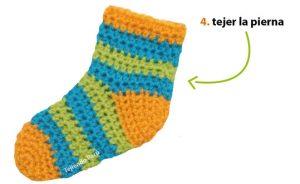 como hacer calcetines de lana a crochet-8