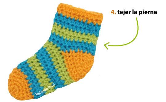 Como hacer calcetines de lana a crochet para dama - Como hacer calcetines de lana ...