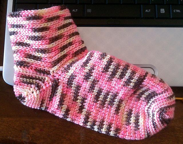 Como hacer calcetines o patucos de lana como hacer - Como hacer calcetines de lana a dos agujas ...