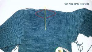como hacer jersey de bebe con dos agujas-10