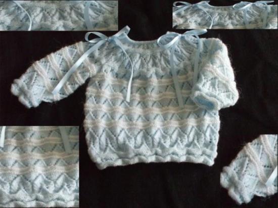 como hacer jersey de bebe con dos agujas facilmente