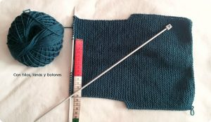 como hacer jersey de bebe con dos agujas-3