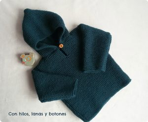 como hacer jersey de bebe con dos agujas