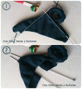 como hacer jersey de bebe con dos agujas-9