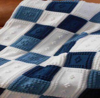 como hacer una manta con dos agujas